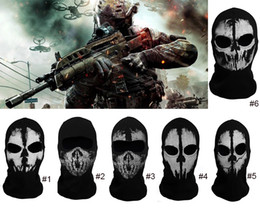 Wholesale Cotton Balaclava Face Skull Ghost Mask Army Military Face Mask Call of Duty