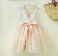 baby girl kids lace dress flower tutu dress floral tutu dres...