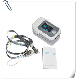 Wholesale PO10005B652 with Pulse Sound Audio Alarm OLED Fingertip oxymeter spo2 PR monitor Blood Oxygen Pulse Oximeter Freeshipping grey