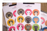 Wholesale Cute Cat Sticker Seal sticker Point Sticker Cat Only sheets