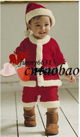 Wholesale New year kids colthing christmas suit baby special occasions boy wear beautiful Christmas hat Christmas clothes childrens outfit in stock
