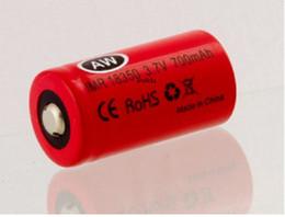 Free shipping 10pcs lot AW IMR 18350 700mah battery for e-cig