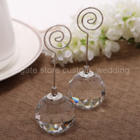 Wholesale Elegant Cute Crystal Ball Wedding Party Supplies Colour Schemes Accessories Place Card Holder