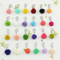 Wholesale mixed colors NEW Floating Coral DANGLES for Living Locket Necklace Charm Jewelry floating charms FD021