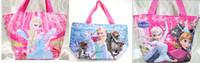 Wholesale Cartoon Frozen Elsa Anna Princess Lunch Bag Carry Bag Student Best Gift