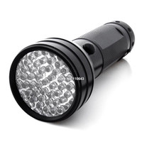 AA Black Aluminum Promotion! 51 UV LED Scorpion Detector Hunter Finder Ultra Violet Blacklight Flashlight Torch Light Lamp AA TK1114