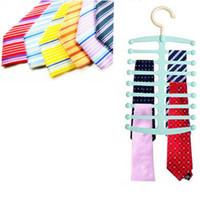 Wholesale New Hot Nonslip Necktie Belt Neck Tie Shawl Rack Holder Hook Hanger Closet Organizer