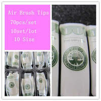 Wholesale MN Air Brush Nail Tips Airbrush Pre Design Nail Tips set sets E371