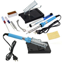 Wholesale 9 in DIY Electric Soldering Iron Starter Tool Kit Set With Iron Stand Solder Desoldering Pump W TK1077