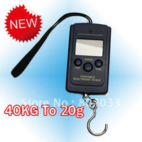<50g Hanging Scale Yes 2pcs 40kg x20g Portable LCD Digital Scale Electronic Hanging Luggage Weight Balance Pocket Kitchen Fishing Hook Weighing Scale