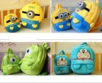 Backpacks Unisex 1-3T Hot On Sale Mini Cute Cartoon Despicable Me Totoro Monsters Coin Cases key purse storage bag Various cartoon small cases S size #S0234