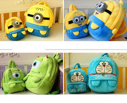 Wholesale Hot On Sale Mini Cute Cartoon Despicable Me Totoro Monsters Coin Cases key purse storage bag Various cartoon small cases S size S0234