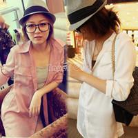 Regular Polyester Solid Best Price!! New chiffon blouse women's long sleeve Brief shirt women clothing blusas feminina dudalina b8 11353