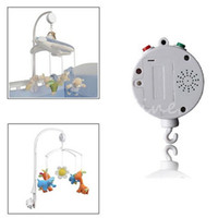 Wholesale MN Melodies Song Baby Mobile Crib Bed Bell Electric Autorotation Music Box White