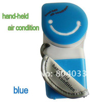 Wholesale New USB Mini Portable Hand Held Air Conditioner Refrigeration Cooler Fan with USB Cable Battery Water Bottle