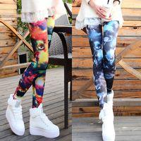 Women Skinny,Slim Skinny 2014 Autumn Punk Chic Women Leggings Galaxy Print Cosmic Space Tights Stretchy Pants Legging Fitness Clothing for Women G0610