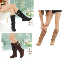 Wholesale Fashion Autumn Winter Women Boots High Boots Shoes Woman Lace Cuff Increased Internal Snow Shoes Size SW002