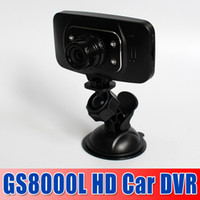 Wholesale hotsale best quality GS8000L P Car DVR Camera quot LCD Car Video Recorder HDMI IR Lights Degrees GS8000 Free DHL Shipping