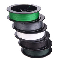 0.26 mm fishing line - 100M LB mm PE Fishing Line Strong Braided Strands Dark Green Green Grey White Black H11396