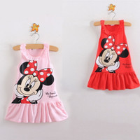 Wholesale 2014 New Arrival Girls Clothes Cute Mickey Mouse Minnie Dress For Kids Colors Children Dresses