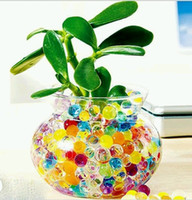 Wholesale 120 pieces Crystal Plant Soil Beads Absorbing Water Beads Crystal Magic Mud beads For Home Office Decoration ZVO