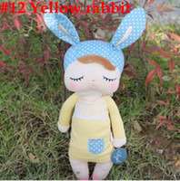 Wholesale MN Cheap Sales Lovely Metoo yellow rabbit Plush toy Animal Doll rabbit Toys CM Stuffed Toys For Children