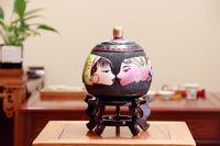 Wholesale Chinese style retro handmade ceramic crafts The tea jar
