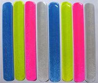 Wholesale 100 New fashion assorted colors Reflective Magic Ruler Slap Band Bracelets