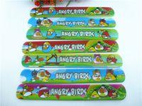 Wholesale 100 New MIXED COLOR favour birds Magic Ruler Slap Band Bracelets