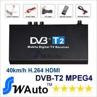 12V 14*8*3 DVB-T2 GPS 2014 New High Speed HD Car DVB-T2 Digital TV Receiver DVB-T2 DVB-T MPEG-4 H.264 Set Top Box Up to 40Km h Support HDMI TV box