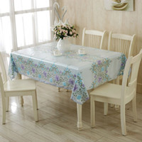 Wholesale PVC table Buu type printing waterproof oil cloth placemats pastoral lace tablecloth complex