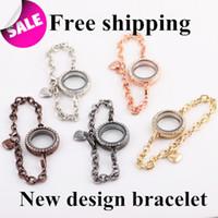 Other Women's Fashion 2014 Fashion Mix color Glass Floating locket bracelets Magnetic Living Memory locket bracelets Jewelry for women Wholesale