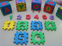 Wholesale MN F113 set Environmentally EVA Foam Numbers Alphabet Play Mat Puzzle Floor Mats Baby Carpet Pad Toys For Kids Rug cm