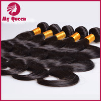 Wholesale DHgate Hair Products Unprocessed Mixed Peruvian Virgin Human Hair Extensions Natural Colors Body Wave Weaves By DHL