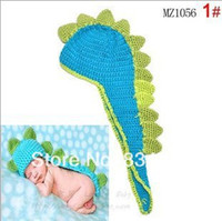 Cheap 2014 New Style Toddler Baby Kids Costume Photo Prop Knit Crochet Dinosaur Handmade Goods Free shippng
