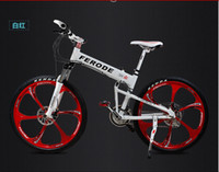 Wholesale LEADER Hummer aluminum mountain bike speed dual disc brake oil one wheel speed folding bike