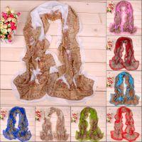 Wholesale Paisley scarf classic classical cashew flower chiffon long silk scarves DHL