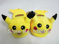 Wholesale MN Pokemon Slippers Figure cartoon plush slipper inch pikachu slipper plush indoor shoes toy GIft for lover amp Retail