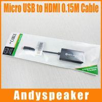 MHL Micro USB 2.0 a HDMI adaptador convertidor de televisión para Google Nexus 5 / Sony Smartphone