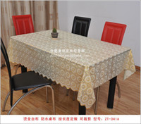 Cheap Priced supply of PVC waterproof tablecloths tablecloths tablecloths 2014 new freedom gilt trim