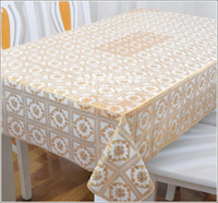 Cheap Wholesale PVC waterproof disposable tablecloths tablecloths freedom gilt trim coffee table cloth tablecloth