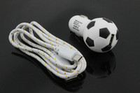 au football - DHL Football Style USB Car Charger Nylon Braided Mirco USB Cable For Samsung Galaxy S6 G9200 Note2