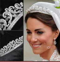 Wholesale 2014 Charming Vintage Tiaras amp Hair Accessories Sparkle Crystal Wedding Hair Accessories Clear Rhinestone Hoop Tiara Jewelry New Arrival WX