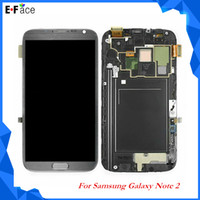 White/Grey note 2 lcd screen - For Samsung Galaxy Note N7100 i317 T889 LCD Display Touch Screen Digitizel Assembly Free DHL Shipping Q0021