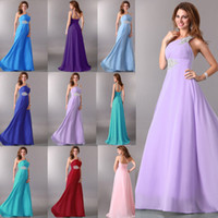 one shoulder evening dress - Hot Selling Sexy Beaded One Shoulder Evening Dresses Long Chiffon Party Prom Gowns CL2949