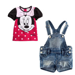 Wholesale Girls are cute leisure Minnie cowboy strap suit dot melting and lovely The new fashion leisure freeshipping new Y Y