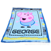 Wholesale Kids Cartoon Blankets Peppa Pig George Baby Children Polar Fleece Autumn Winter Size x160cm Picnic Travel Blanket