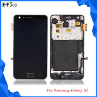 Wholesale Q0006 For Samsung Galaxy S2 i9100 T989 LCD Display Touch Screen Digitizer with Frame Assembly Free DHL Shipping