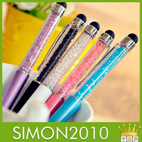 Wholesale Stylus Pen divided to parts Diamond shine Crystal Touch Screen Rhinestones Capacitive Stylus Ball Pen For Mobile Phone PC Tablet iPad