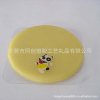 Wholesale Special supply soft pvc coaster printing bronzing process Silicone Placemats environmental coasters